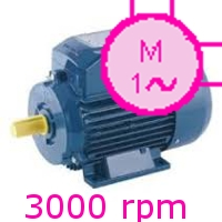 MOTOARE ELECTRICE MONOFAZATE 3000rpm  2poli 230V S1 F IE1