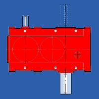REDUCTOARE CU AXE PARALELE (1T-2T) ȘI AX LA  MOTOR